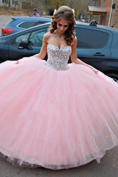 Off-shoulder Ball Gown Quinceanera Dress ,Prom Dress With Rhinestones E428
